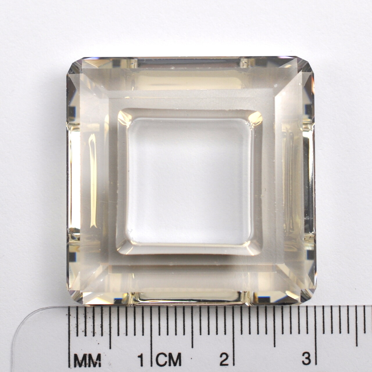 #4439 Crystal Silver Shade Square Ring 30mm (1 pc)