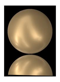 #2081/2 Cabochon Pearl Crystal Vintage Gold Pearl (72 pcs) HF