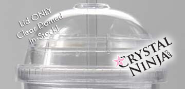 LID ONLY: Clear Acrylic Double walled Dome Tumbler LID Fits 20oz