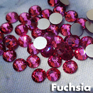 Fuchsia - KiraKira Glass Rhinestones by CrystalNinja