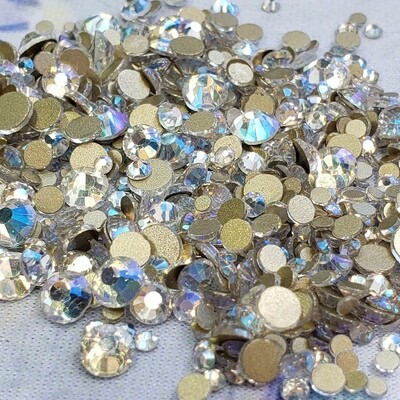 Blue Moon - KiraKira Glass Rhinestones by CrystalNinja