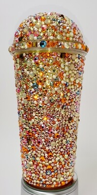 20oz Swarovski Crystal, Dome Lid, Cup and Straw. Yellows