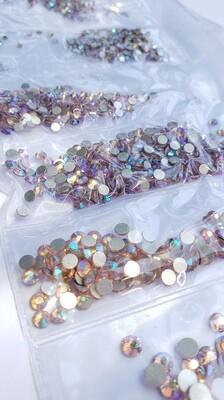 Light Rose AB Variety- KiraKira Glass Rhinestones by CrystalNinja