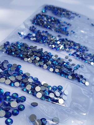 Sapphire AB Variety- KiraKira Glass Rhinestones by CrystalNinja