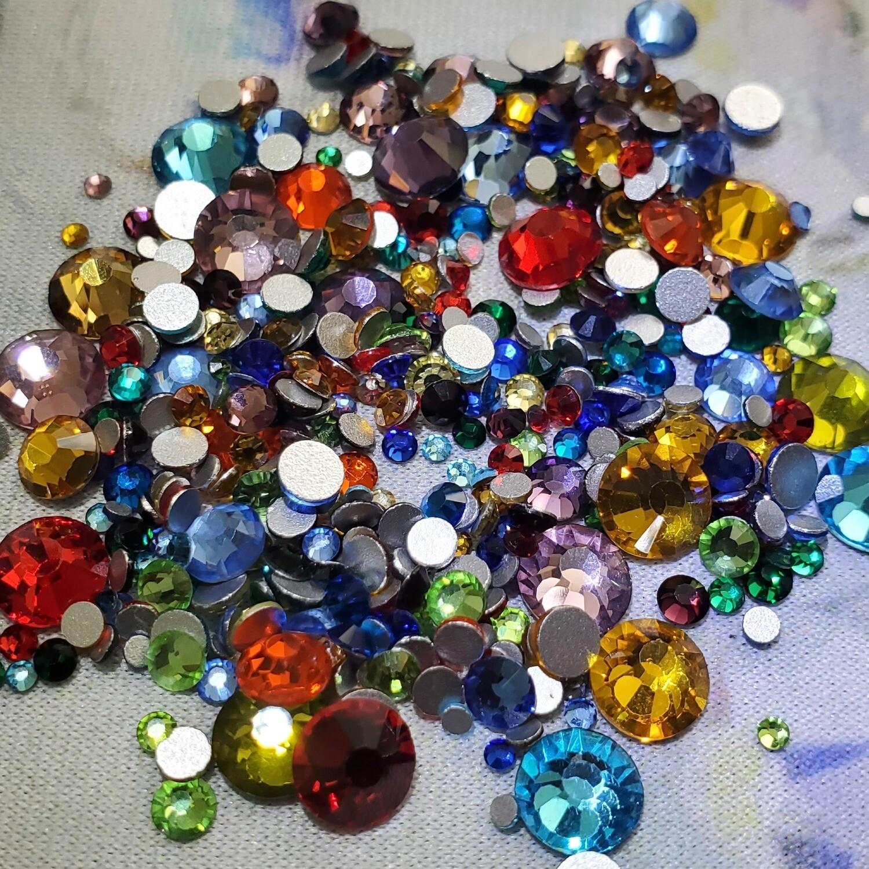 Basic Colors MIX - KiraKira Glass Rhinestones by CrystalNinja