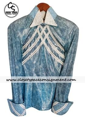 'Cassidy's Casuals' Light Blue & White Shirt