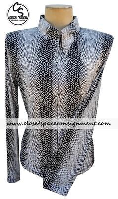 'Lisa Nelle' Black & White Snakeskin Shirt - NEW