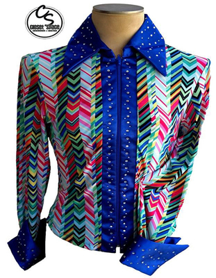 'Rod's' Blue & Multi Colored Pleasure Shirt