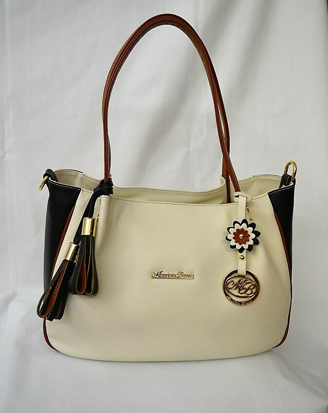 Bag Mod. Carmen Three Colours White Milk