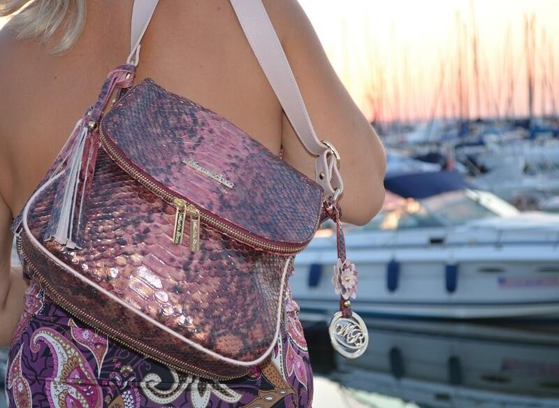 Bag Mod. Frida382 – Postaman Bag Leather python printed