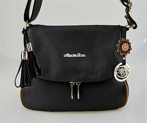 Bag Mod. Frida382 – Postaman Bag Leather Black