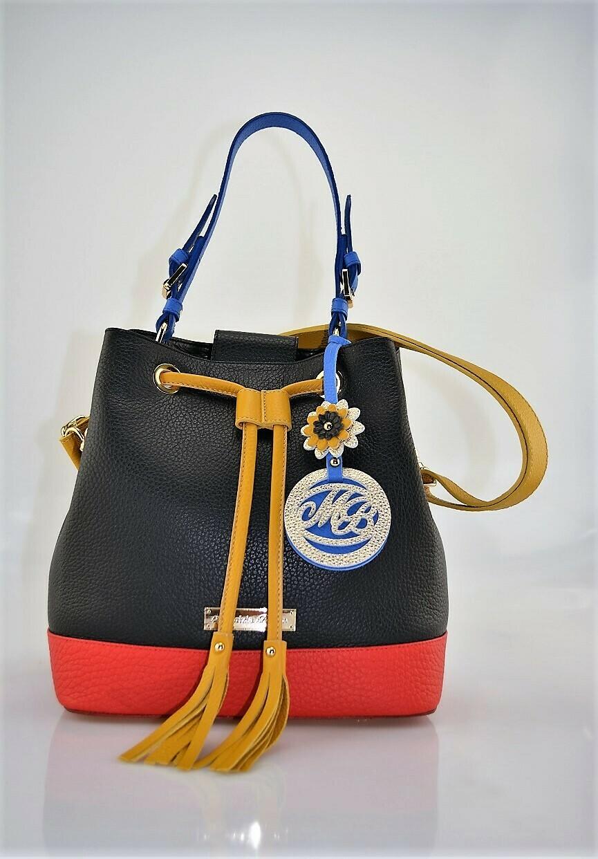 Bucket Bag Mod. Bambù, Medium Size, Black