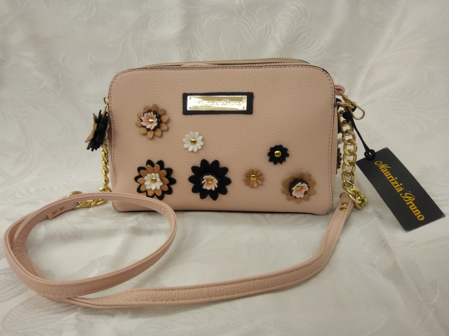 Crossbody Bag EMB218 Eco Leather color PinkPodwer