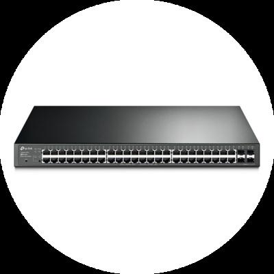 Управляемый Gigabit Ethernet Smart PoE-коммутатор TP-Link T1600G-52PS