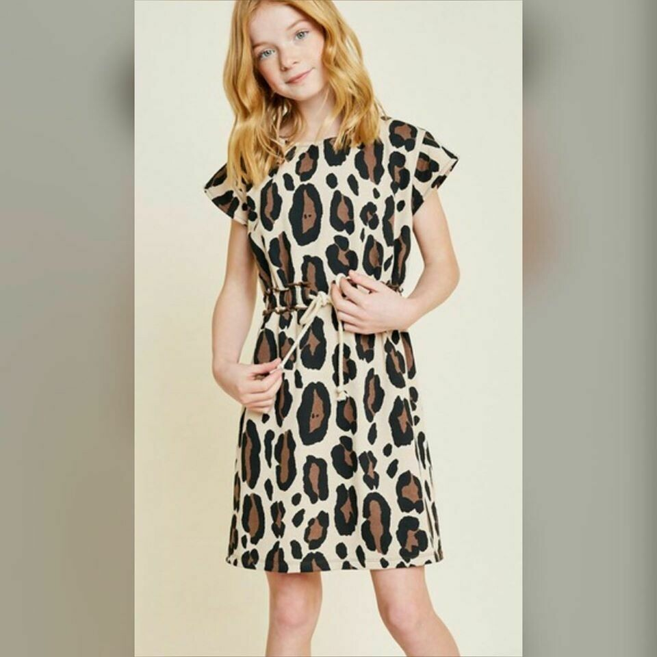 Girls Sunday Leopard Dress