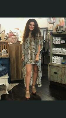 Buddy Love Snake Print Hi-Low Dress