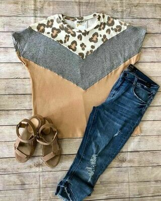 Plus-Size Waffle Knit Top