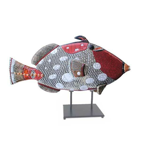 Trigger fish Y Glazed on stand