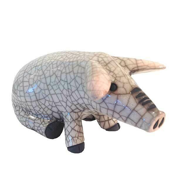Ceramic Pig Squatting