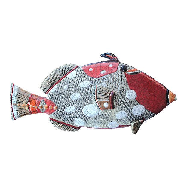 Trigger fish Y Glazed Hanging