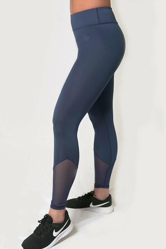 Pyramid Leggings - Navy Blue