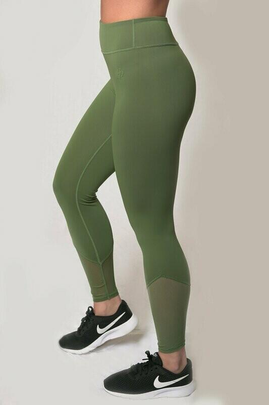 Pyramid Leggings - Kale Green