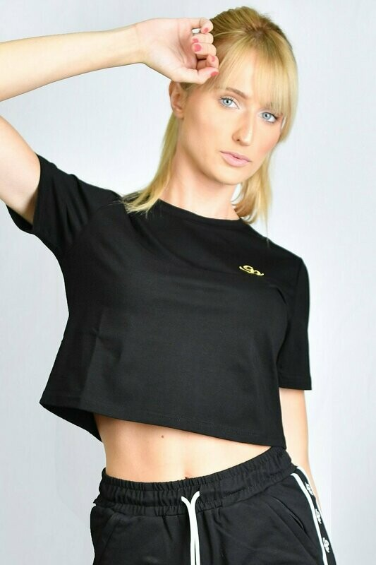 GP Cropped T-shirt - Black