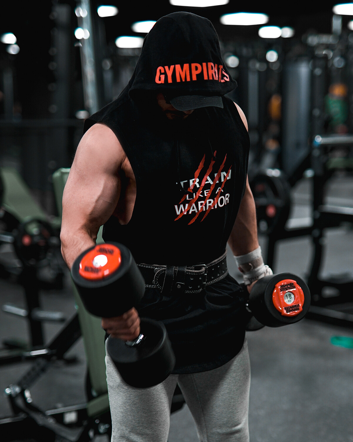 Warrior Sleeveless Hoodie - Black