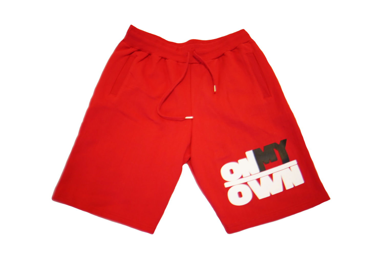 Red OnMyOwn Shorts
