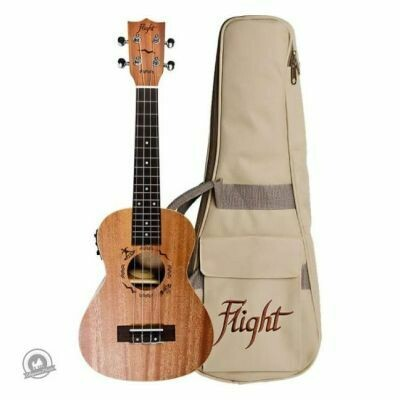 Flight: DUC323CEQ Electro-Acoustic Concert Ukulele (With Bag)