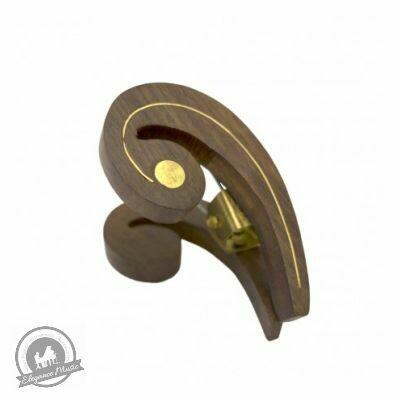 Wooden Music Clip - Bass Clef