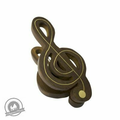 Wooden Music Clip - Treble Clef - Large