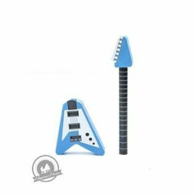 Guitar Pencil & Eraser - Assorted Colour (Red or Blue)
