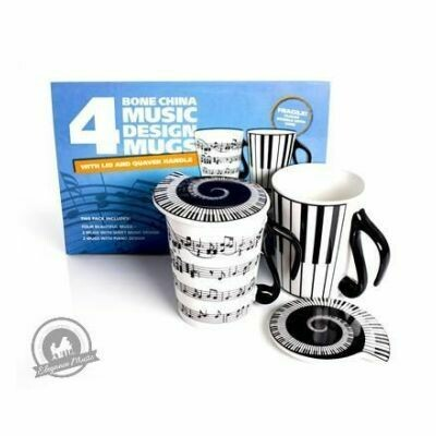 Mug And Lid: Music Notes - Pack Of Four