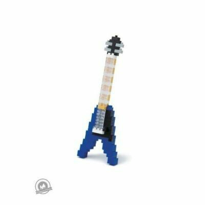 Nanoblock Electric Guitar - Blue