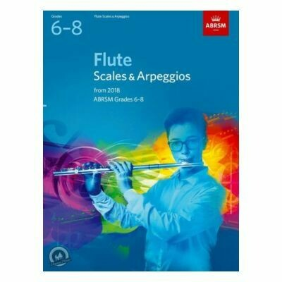 ABRSM Flute Scales and Arpeggios Grades 6-8 From 2018