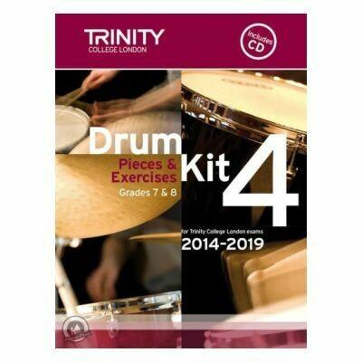 Trinity Drum Kit 2014-2019 Book 4 + CD