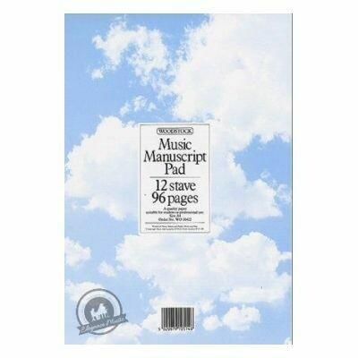 Woodstock Music Manuscript Paper (12 Stave - 96 pages A4)