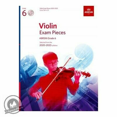 ABRSM Violin Exam Pieces 2020-2023 Grade 6 (Book with 2CD)