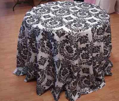 Taffeta Flocking Tablecloth (120