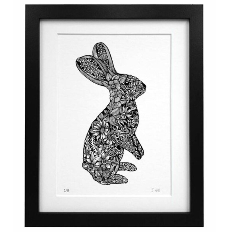 Illustrated Bunny Print