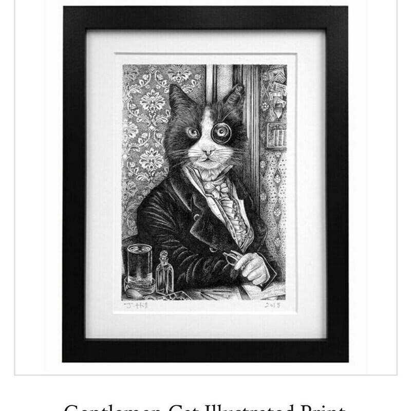 Gentleman Cat Print