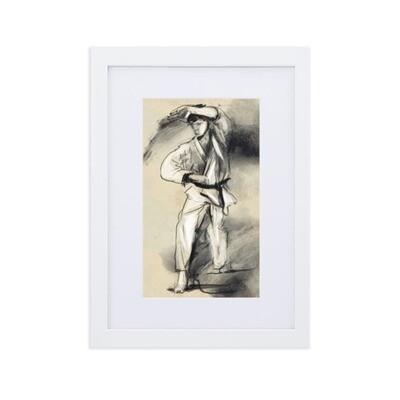 Karate-ka Matte Paper Framed Poster With Mat