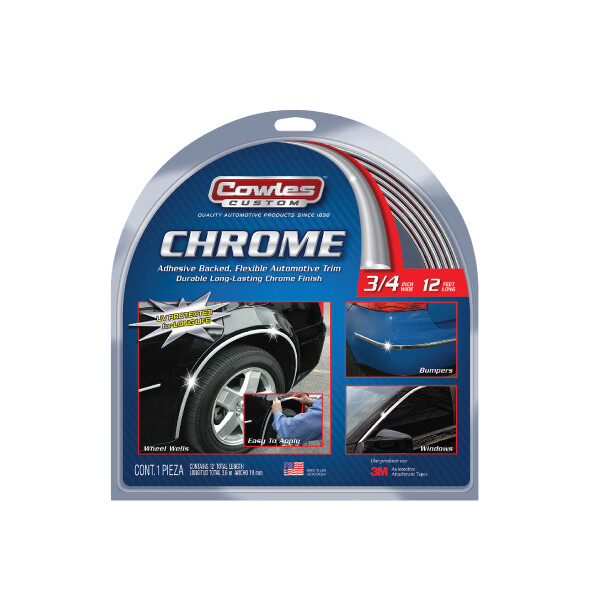 Cowles® S37734 Custom Chrome Molding Trim 3/4