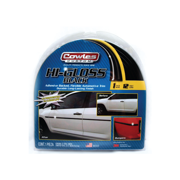Cowles® S37201 Hi Gloss Black Body Molding Trim 1