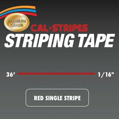 Red Single Stripe 1/16