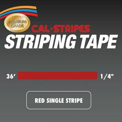 Red Single Stripe 1/4