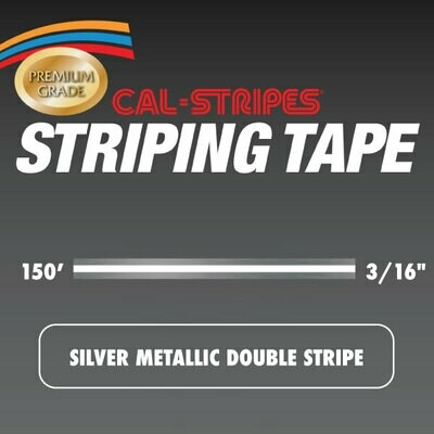 Silver Metallic Double Stripe 3/16