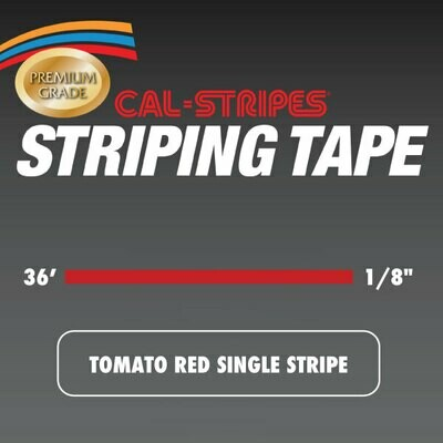 Tomato Red Single Stripe 1/8
