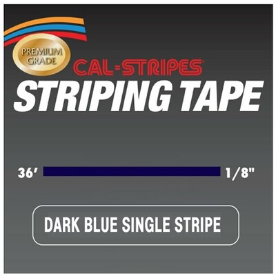 Cal-Stripes® Dark Blue Single Pinstriping Tape 1/8